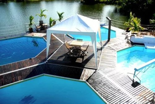 Modern Floating Pool Inspiration by Mobedeep