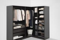 Black Brown Corner Wardrobe