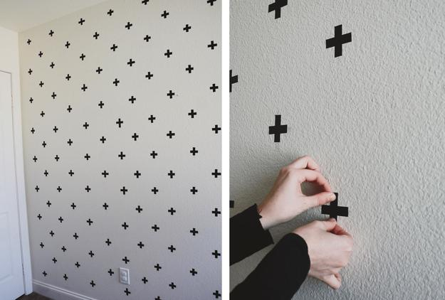 DIY Bedroom Washi Tape Decals Wall Decor