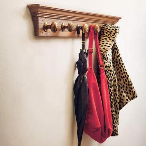 DIY Doorknob Coatrack Bedroom Furniture