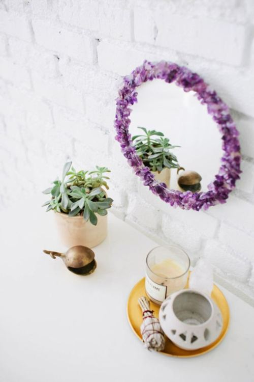 DIY Gem Stone Mirror