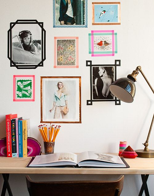Dorm DIY Tape Picture Frames