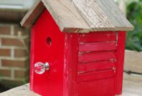 modern wood diy birdhouse idea