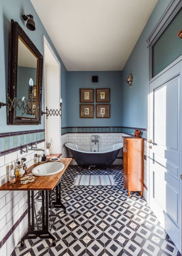 Eclectic Bathroom Idea From Pinterest