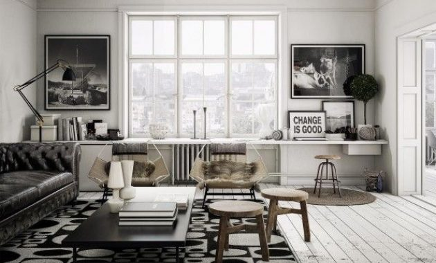 Scandinavian Living Room Design Ideas With Artsy Loft Effect