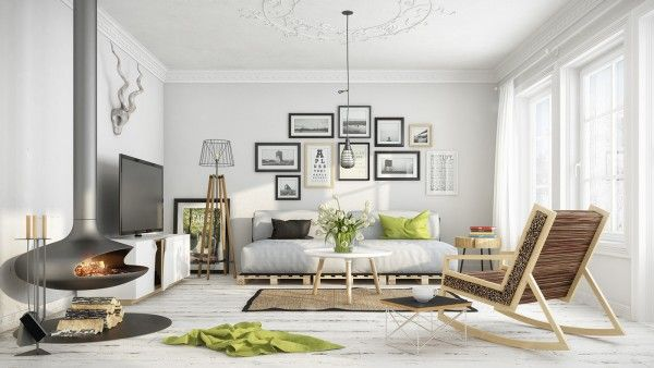 Scandinavian Living Room Design Ideas With Minimal Design
