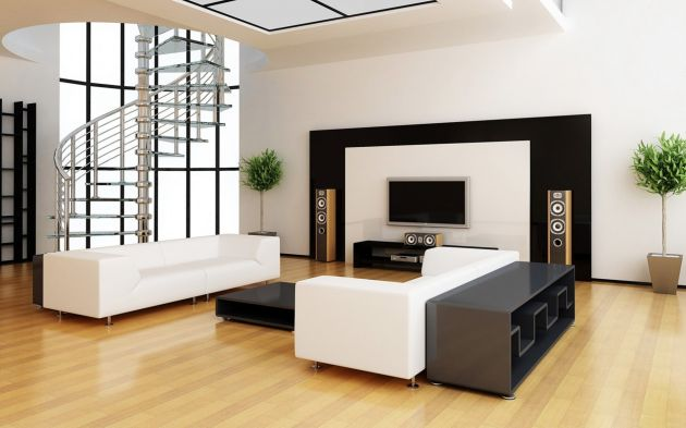 Simple Living Room Design with Modern Furniture