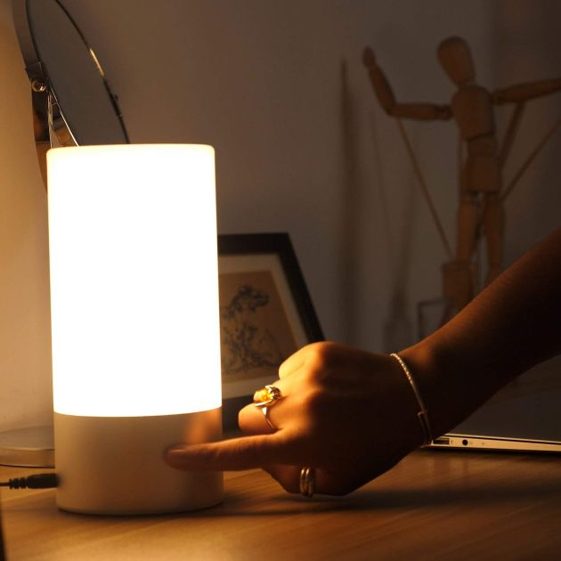 Table Lamp with Color Changing and Touch Sensor