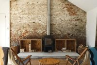 living rooms with brick walls