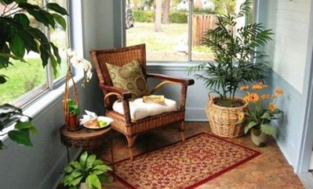 Sunroom Nook With Potted Greenery