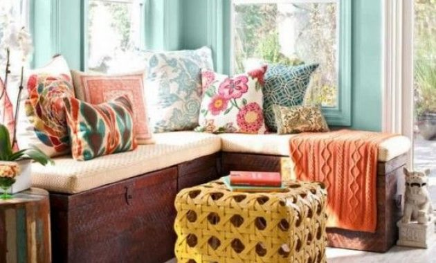 Sunroom With Turquoise Walls