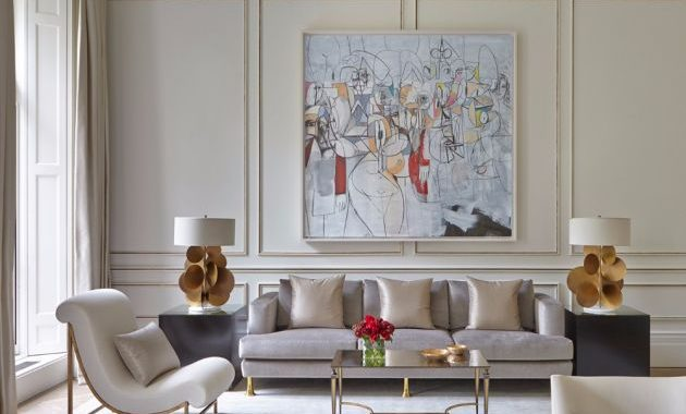 Belgravia Living Room With Sleek Center Table By Todhunter Earle Interiors