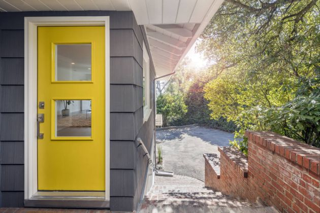 Door With Bright Yellow Accent