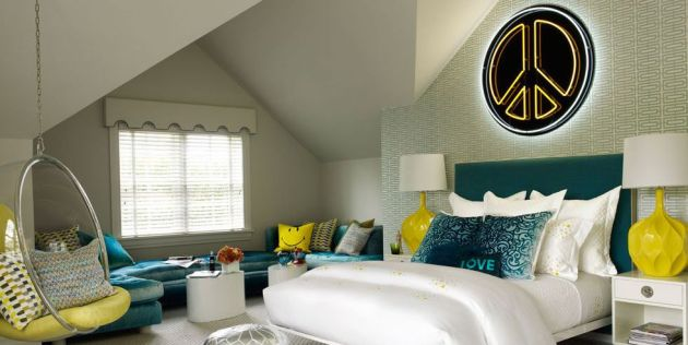 Girl Bedroom Decorating Ideas With Yellow Vintage Lamps From San Francisco