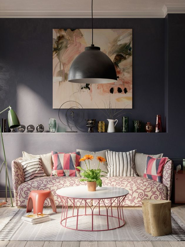 Grey Living Room Ideas With Pink Different Patterns And Shades