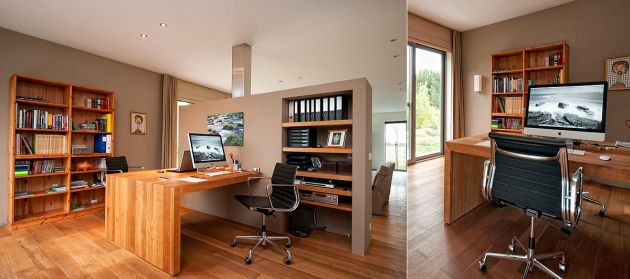Home Office Design Ideas For Two Persons With Eames Style Aluminum Group Management Chair