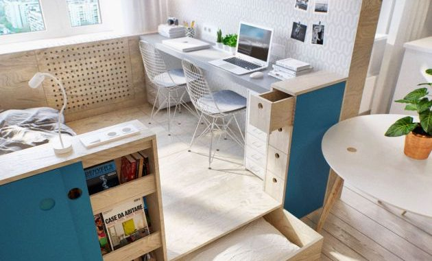 Home Office Design Ideas For Two Persons With Eames style Eiffel Base Wire Chairs