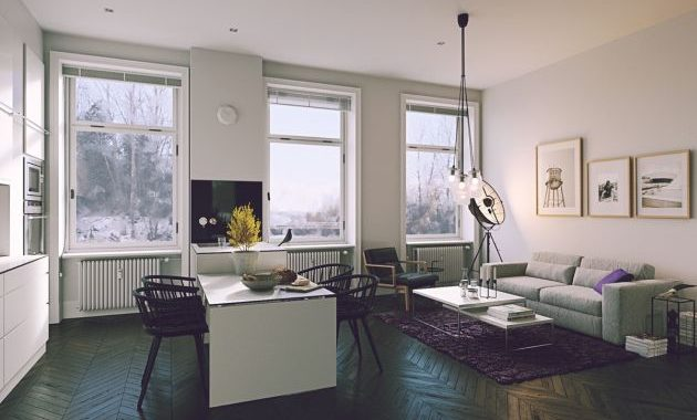 Living Room Decor With Scandinavian Style Chairs