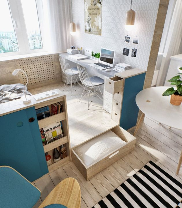 Modern Home Office With The Eames Wire Chair