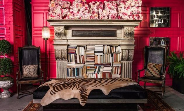 NYFW Lounge With Tiger Inspired Center Table by Ken Fulk