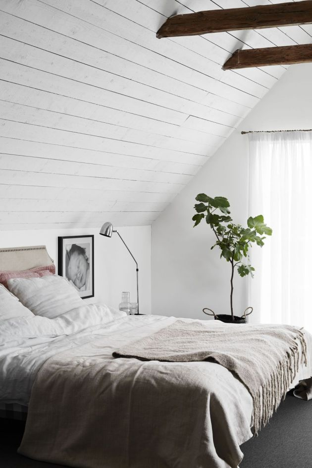 Swedish Inspired Grey and White Bedroom Design