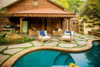 Swimming Pool Design with French Countryside Style