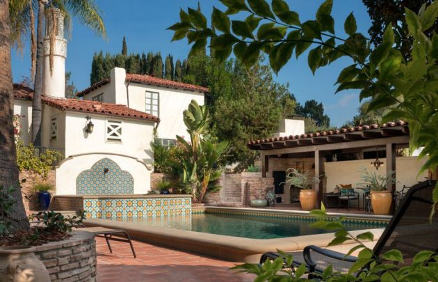 Swimming Pool of Spanish Colonial Revival House in Glendale