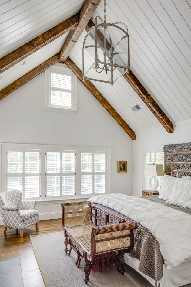 Wood Ceiling of Weston, Massachusetts, Historic Farmhouse By Patrick Ahearn Architect