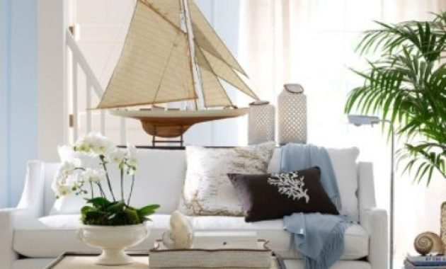 Beachy Living Room In Light Blues