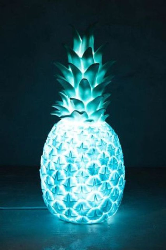 Blue Pineapple Light For Bedroom Or Bar Decor