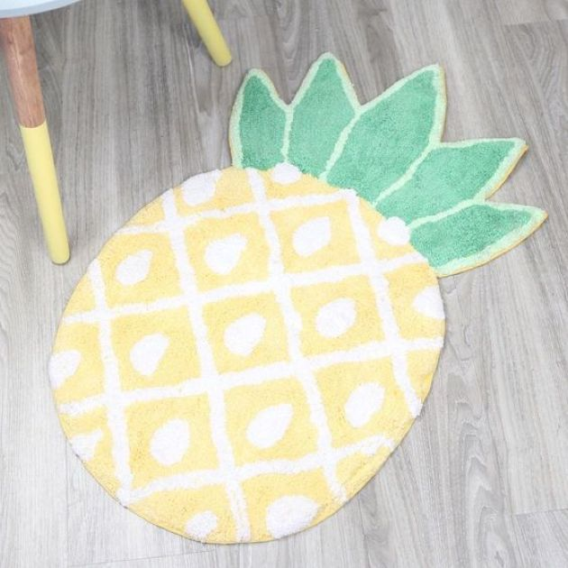 Cheerful Pineapple Mat For Bathroom Decor