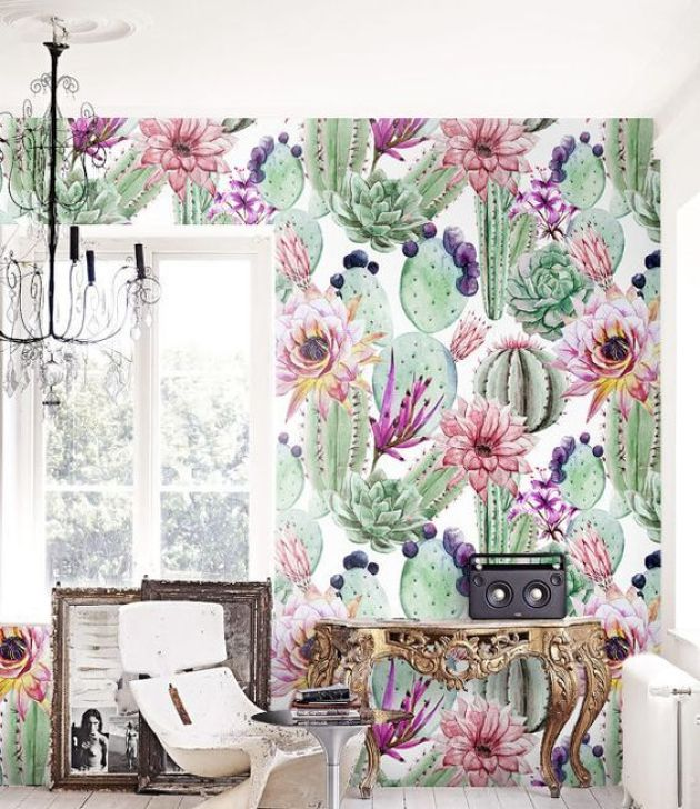Colorful And Creative Adhesive Wallpaper In Green For Wall Decor