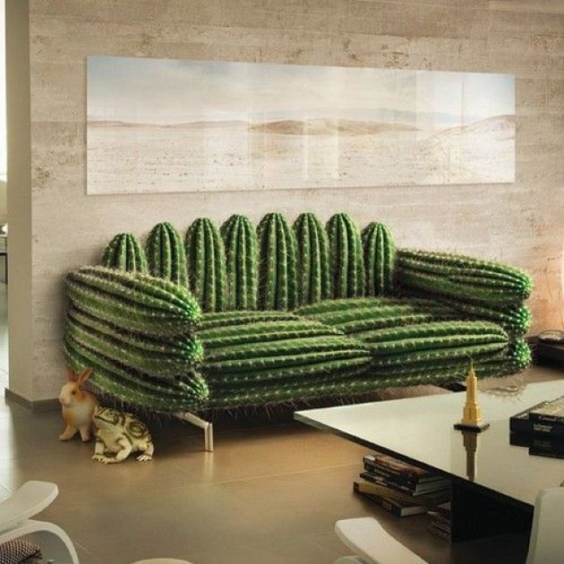 Fun Cactus-Inspired Sofa For Living Room Decor