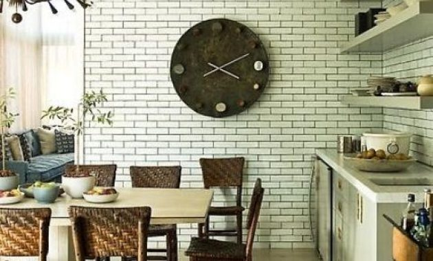 Kitchen With Faux Brick Wall