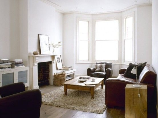 Light-Filled Masculine Living Room With Leather Furniture