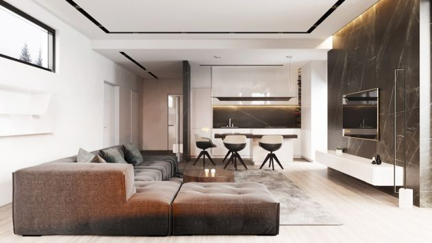 Living Room Decorating Ideas With Brown Sofas From Fenix Design