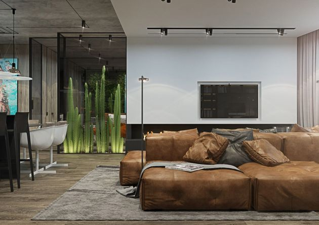 Living Room Decorating Ideas With Brown Sofas From YoDezeen
