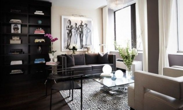 Masculine Laconic And Refined Living Room Done In Neutrals