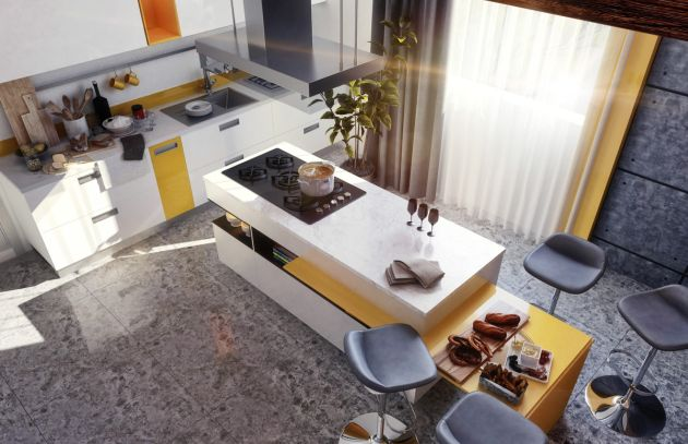 Modern Kitchen Island Designs