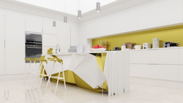 Modern Kitchen Island Inspired By Bread And Butter