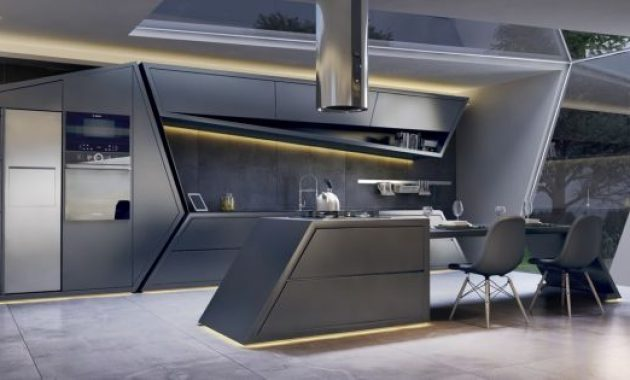 Modern Kitchen Island Inspired By Star Trek Movie