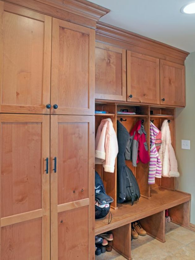 Mudroom In Floor-To-Ceiling Cabinetry