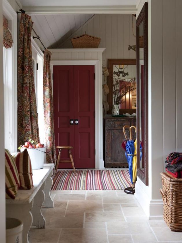 Mudroom With An Antique Bench