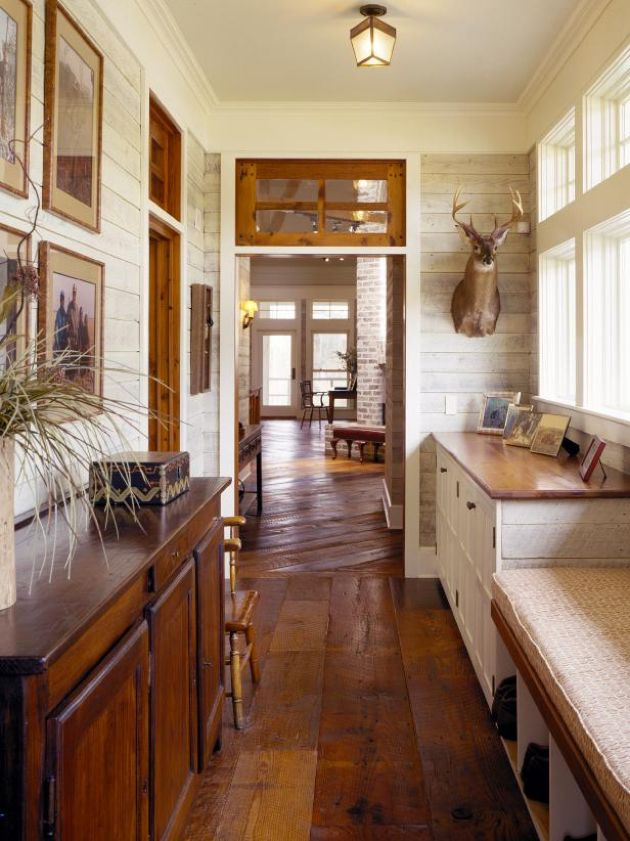 Mudroom With Rustic Lodge-inspired Elements