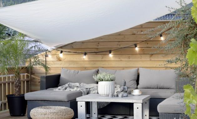 Rooftop Terrace With Vintage Coffee Table
