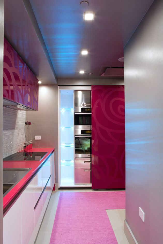 Small Purple Kitchen Design Ideas By ALVAREZ-DIAZ & VILLALON