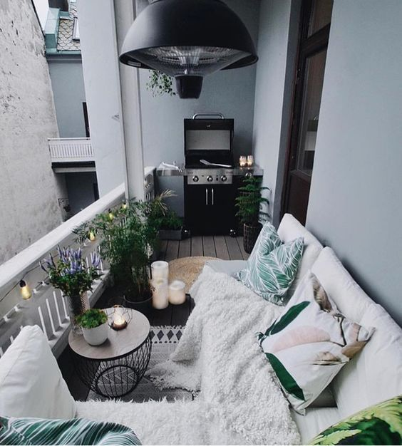 Small Terrace Design Ideas With Bright Pillows And A Blanket