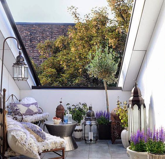 Small Terrace Design Ideas With Potted Greenery And Blooms
