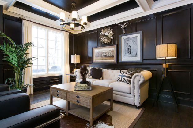 Traditional Black Living Room Ideas By Jacob Hand Photography + Motion