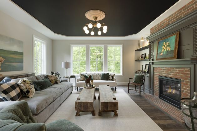 Traditional Black Living Room Ideas By Vintage Elements